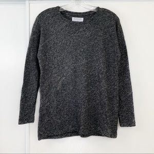 Everlane Heathered Long Sleeve Crew